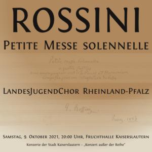 "Rossini ""Petite Messe solennelle"" mit LandesJugendChor in der Fruchthalle"